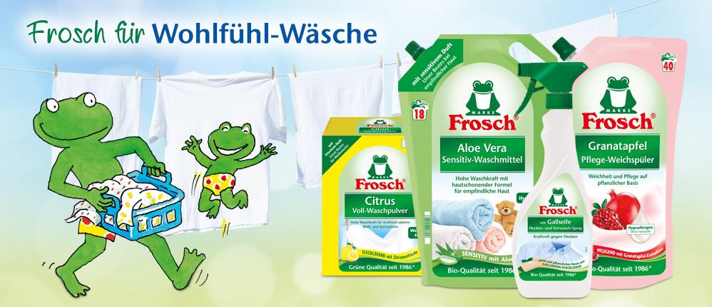 Frosch für Wohlfühl-Wäsche