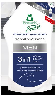 Frosch Senses Men Meeresmineralien Sensitiv-Dusche 3in1 NFB