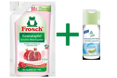 Frosch Granatapfel Sensitiv-Weichspüler + Gratis-Dusche
