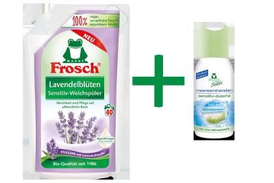 Frosch Lavendelblüten Sensitiv-Weichspüler + Gratis-Dusche