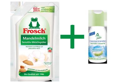 Frosch Mandelmilch Sensitiv-Weichspüler + Gratis-Dusche