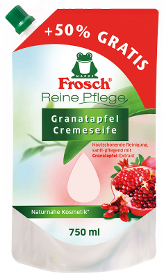Reine Pflege Granatapfel Cremeseife Nachfüllbeutel 750 ml